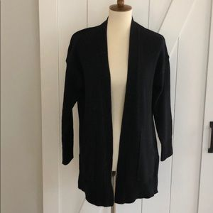 Madewell XS Black Long Cardigan